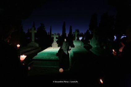 La segunda edición de las 'Rutas Culturales en el Cementerio de León' . SERFUNLE. León - 16- octubre - 2018. Secundino Pérez
