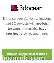 3docean - Улучшайте Ваши игры, анимацию и 3D-проекты с моделями, текстурами, материалами, плагинами и многим другим.