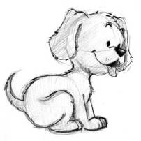 Just a sketch of a cute puppy