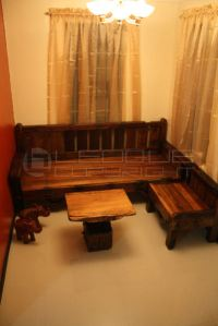 Reproduction antique-look Set: L-shaped daybed + bench set ...
