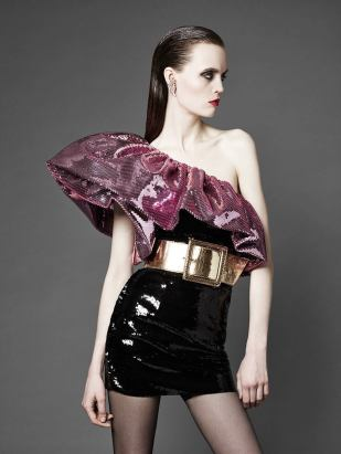 Image: full sequin dress Yves Saint Laurent, Paris collection numero 40