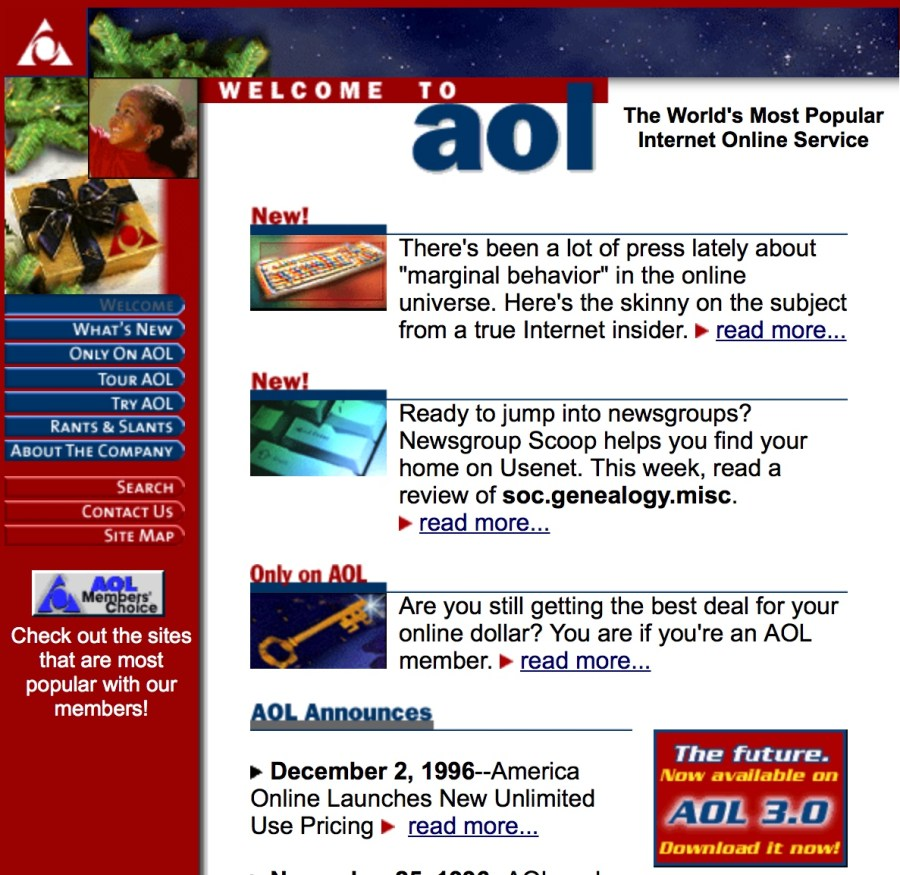 Thank you AOL for resurrecting messaging as verb