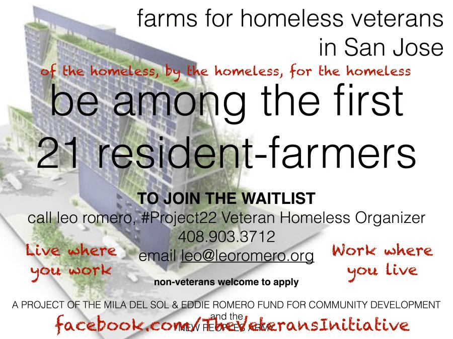 farms for homeless veterans in san jose