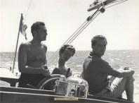 GIANNI AGNELLI, MARELLA AGNELLI, AND BENNO GRAZIANI (JULY 1957)