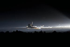 Last landing of a space shuttle.