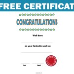 Free Certificate – Theme: Congratulations