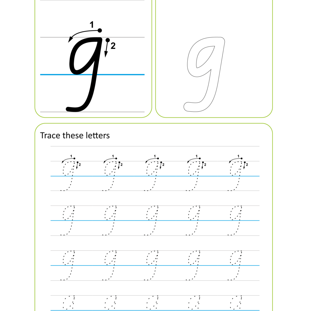 Victorian Modern Cursive Handwriting Worksheet