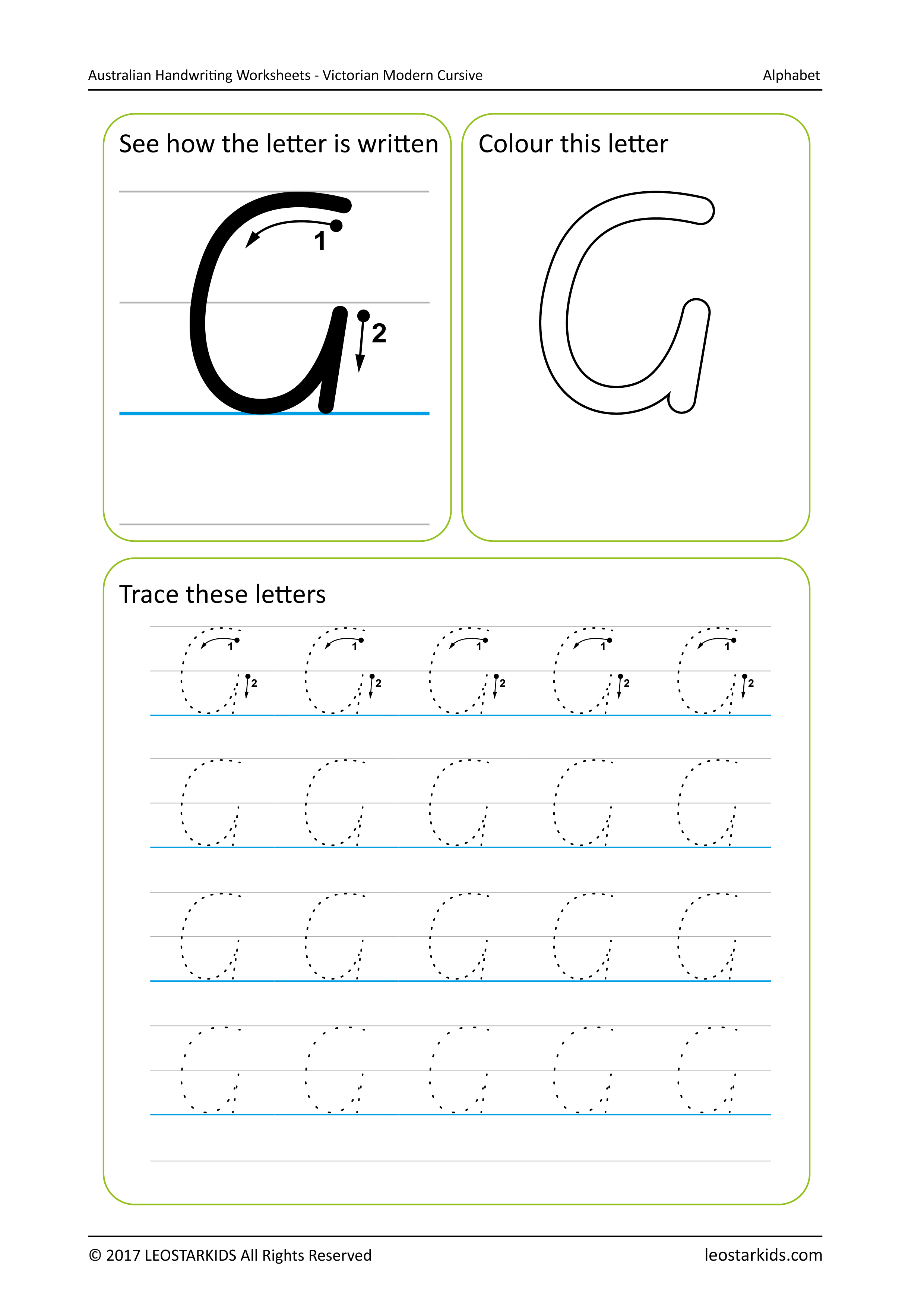 Victorian writing alphabet worksheets