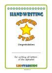 Handwriting Super Star Certificate