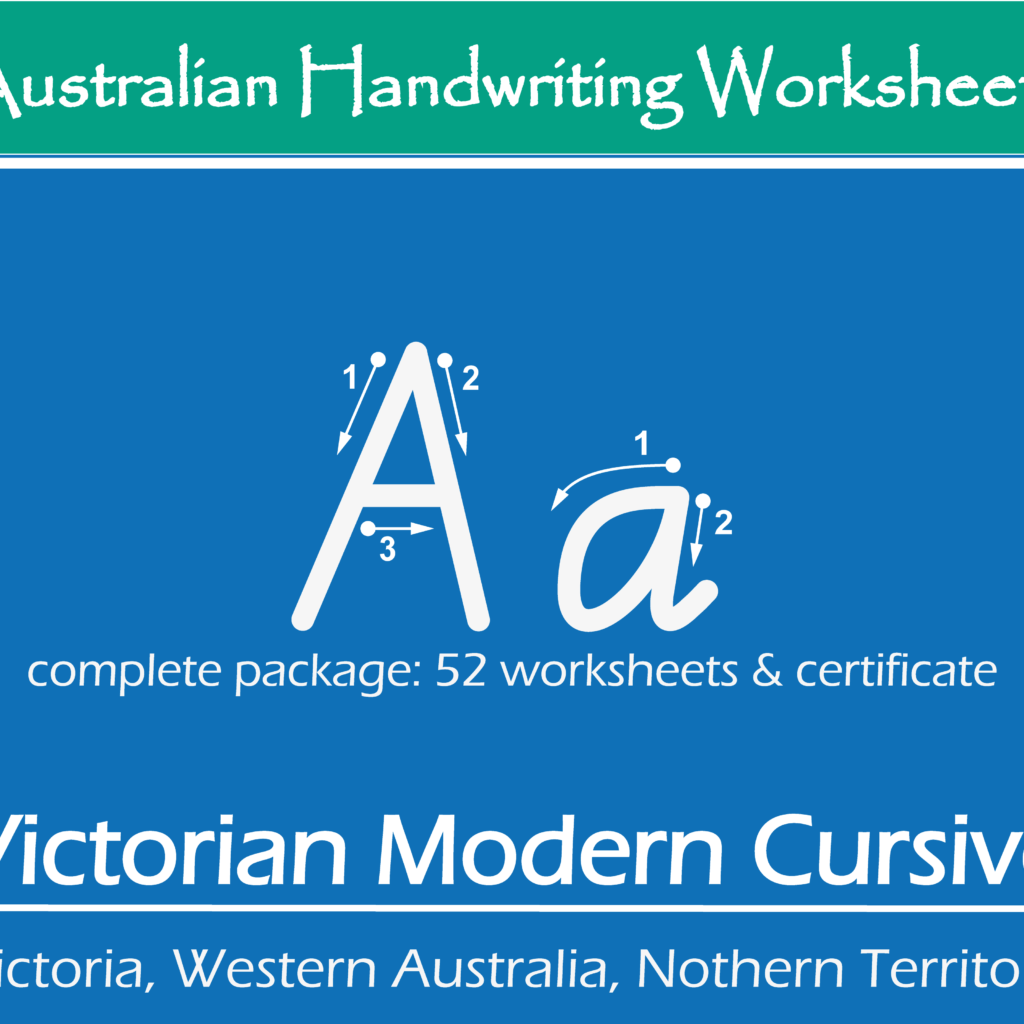 Australian Handwriting Practice Worksheets