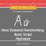 New Zealand Handwriting Worksheets – New Zealand Basic Script – Free Sample