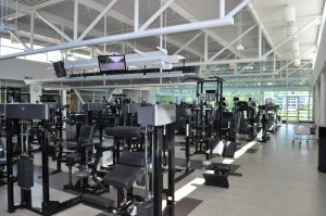 Modern Gym. Note the lack of sunlight that comes in compared to the turn of the century gymnasium.
