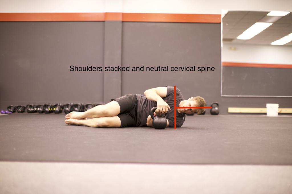 Proper Position for the Kettlebell Arm Bar