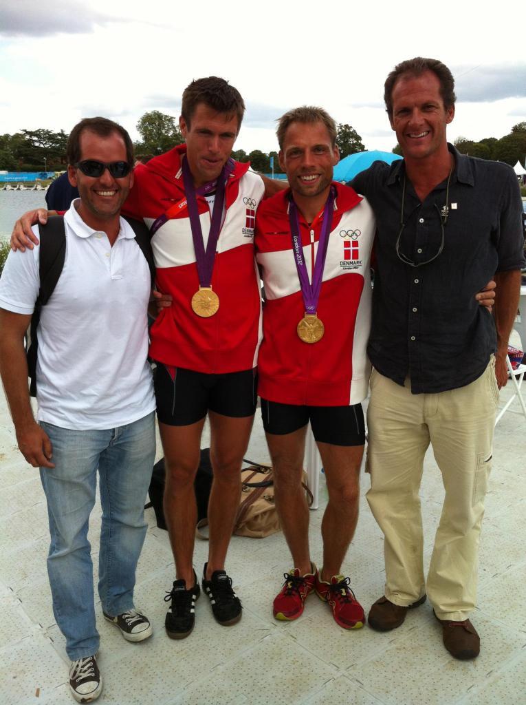 Pedro Alte da Veiga, Mads Rasmussen, Rasmus Quist Hansen and Luis Ahrens Teixeira at the London 2012 Olympics.