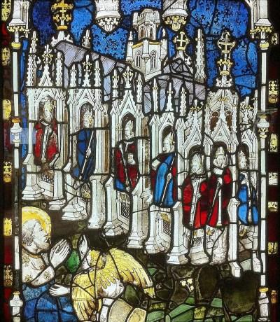 As Sete Igrejas do Apocalipse, vital da catedral de York, Inglaterra