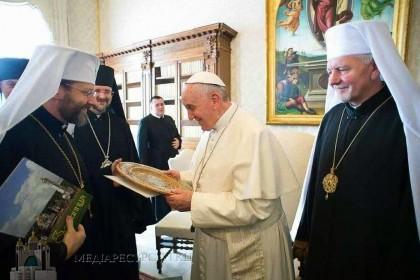 Na visita ad limina os bispos católicos ucranianos advertiram o Papa Francisco para não se deixar influenciar pela propaganda russa infiltrada no Vaticano.
