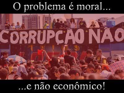 O problema e moral e nao economico