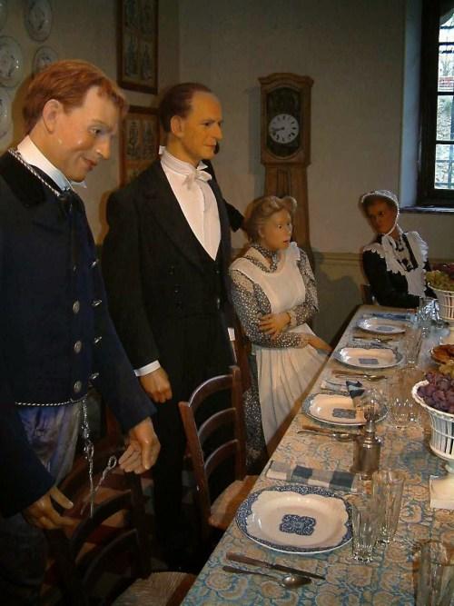 Refeitorio dos empregados no castelo de Breteuil, Ile de France