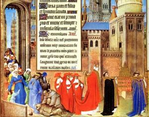 São Miguel atende as súplicas do Papa São Gregório Magno