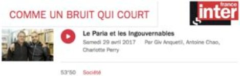 Leparia Comme un bruit qui court France inter