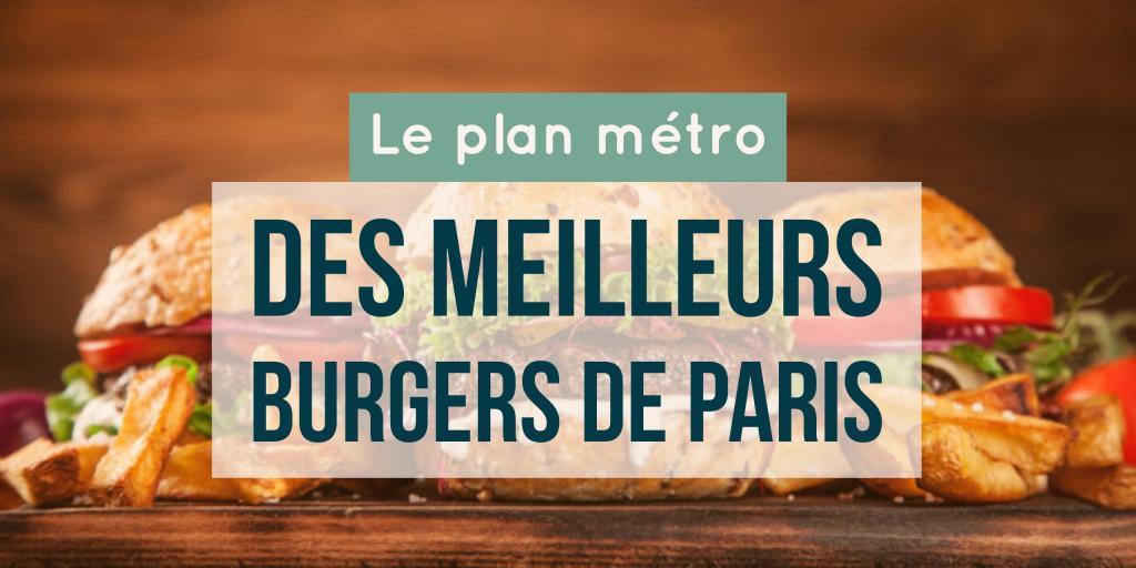 plan metro des burgers à Paris