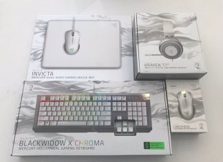 Razer White Grey