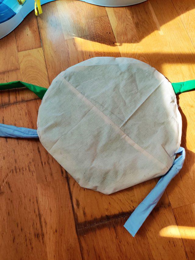 Résultat du jouet final pour chat, Recycler les chutes de tissus: