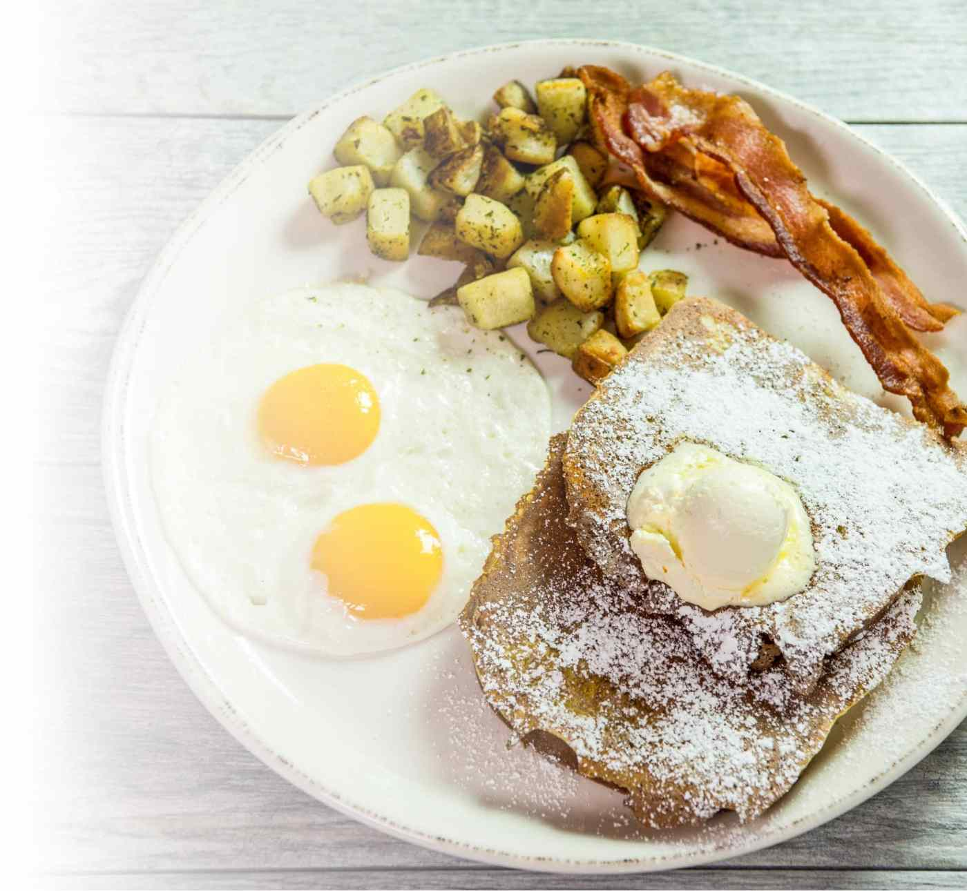 Egg and griddle breakfast combos