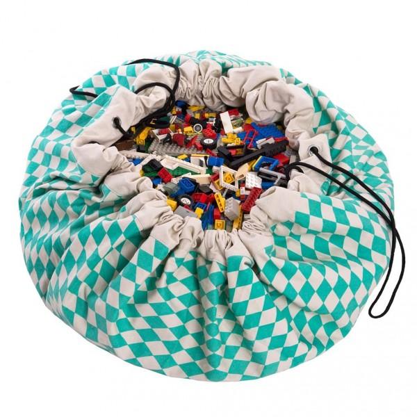 tapis de jeu et sac de rangement losange vert le pestacle de maelou