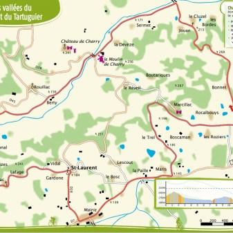 Saint Cyprien 17 Km 1,5 uur Gemiddeld