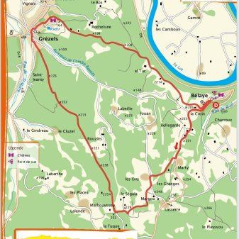 Bélaye 11 Km 1.20 uur Makkelijk