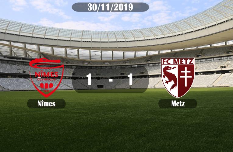 Les Crocos du Nîmes Olympique tombent sur un os à domicile face à Metz et arrachent le match nul