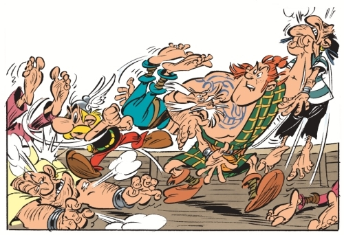 Drawings of Asterix among the Picts