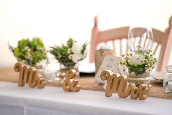 matrimonio rustico - la tavola
