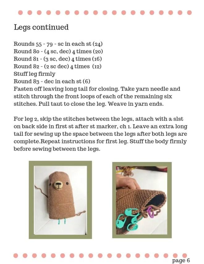 Teddy Bear Crochet Pattern - Princess Bernadette (5)