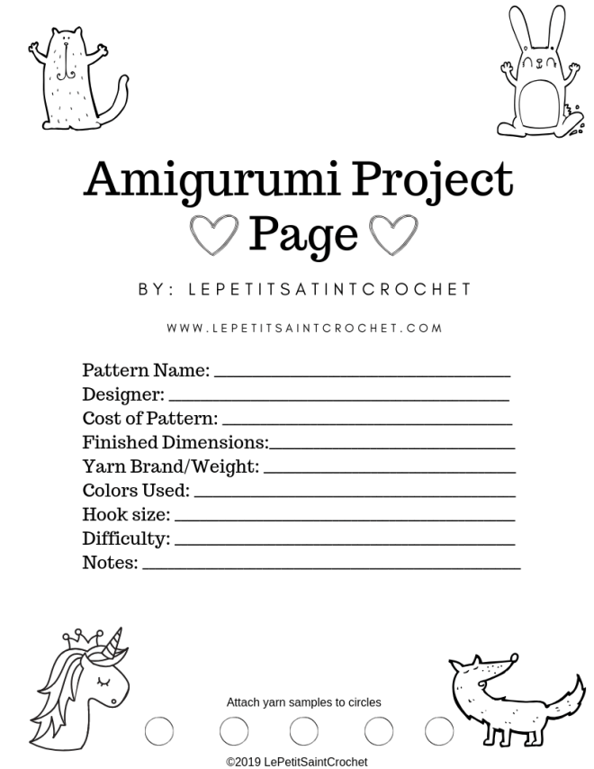 Amigurumi Project Page!