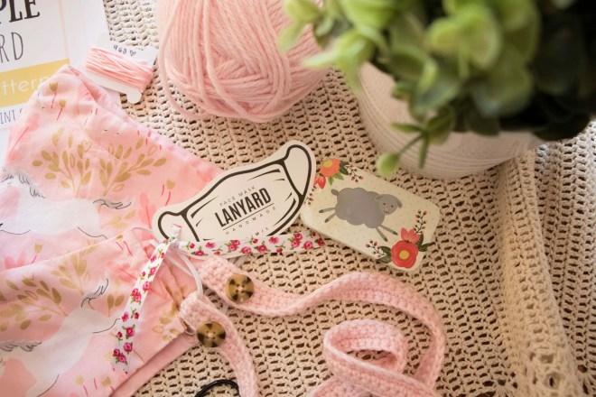 Crochet face mask chain