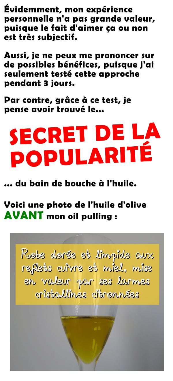 Le secret de la popularité du oil pulling