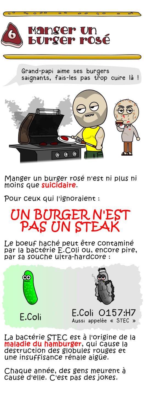 Manger un burger rosé