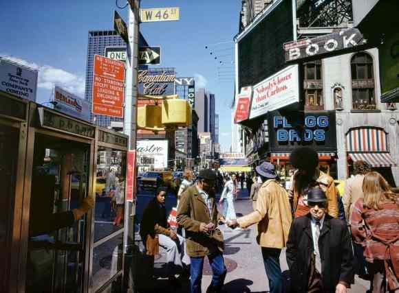 scène de rue colorée à New York