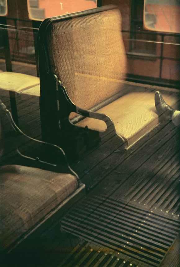 Saul Leiter - Foot on EI - 1954