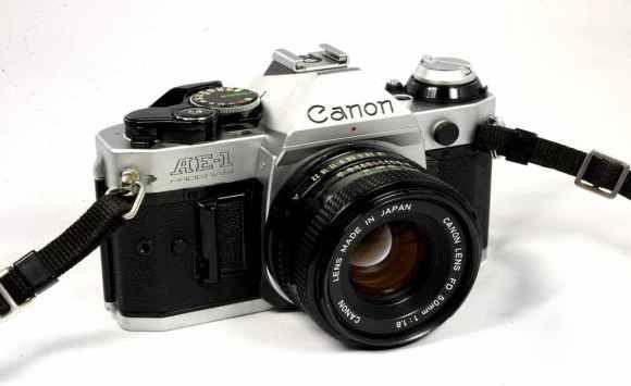 Canon AE 1 en gros plan
