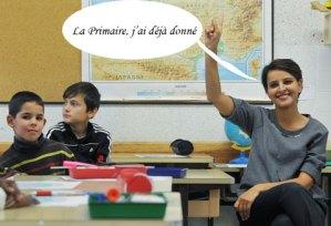 Najat-Vallaud-Belkacem,-dans-une-école-primaire