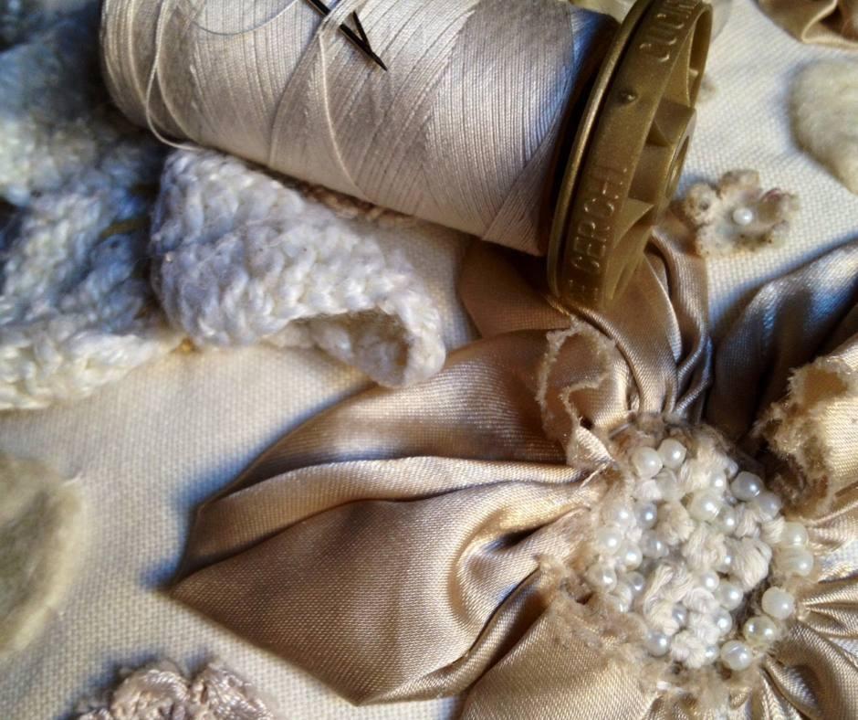 bobine perles et tissus