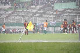 C'est sous une grande pluie que les supporteurs ont suivi le match CI- Angola