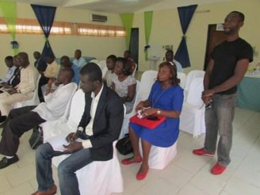 Une vue des Directeurs et journalistes présents à la Maison de la presse d'Abidja. (Ph: lepointsur.com)