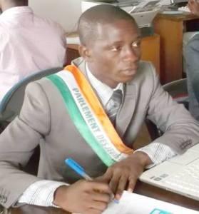 Yao Vaj Josué, président du parlement des jeunes de Côte d'Ivoire  (Ph:Dr)