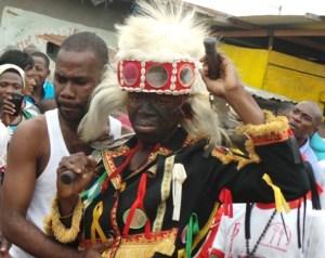 Ici, Atchui Christian, le guerrier de la catégorie Blessoué Dongba.