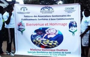 Le soutien des Escom à la Première dame, Dominique Ouattara.Ph.dr