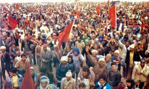 Des marocains tenant leur Drapeau ont organisé une marche pacifique sous l'initiative de Feu Hassan II.Ph.Dr